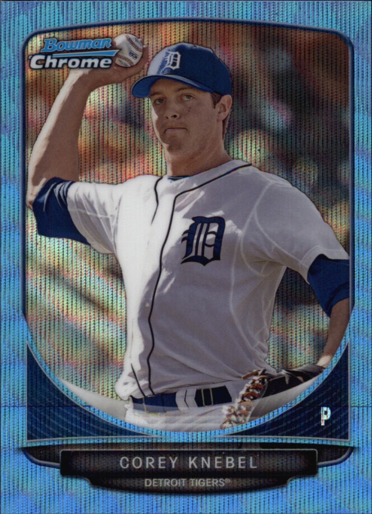 2013 Bowman Chrome Draft Draft Picks Blue Wave Refractors #BDPP18 Corey Knebel