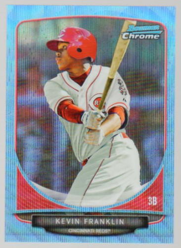 2013 Bowman Chrome Draft Draft Picks Blue Wave Refractors #BDPP25 Kevin Franklin