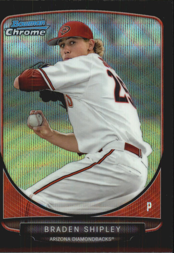 2013 Bowman Chrome Draft Draft Picks Black Wave Refractors #BDPP12 Braden Shipley