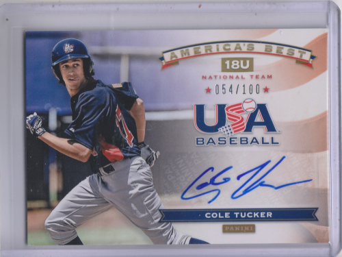 2013 USA Baseball 18U National Team America's Best Signatures #20 Cole Tucker