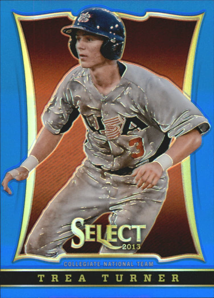2013 USA Baseball Select Preview Blue Prizms #22 Trea Turner