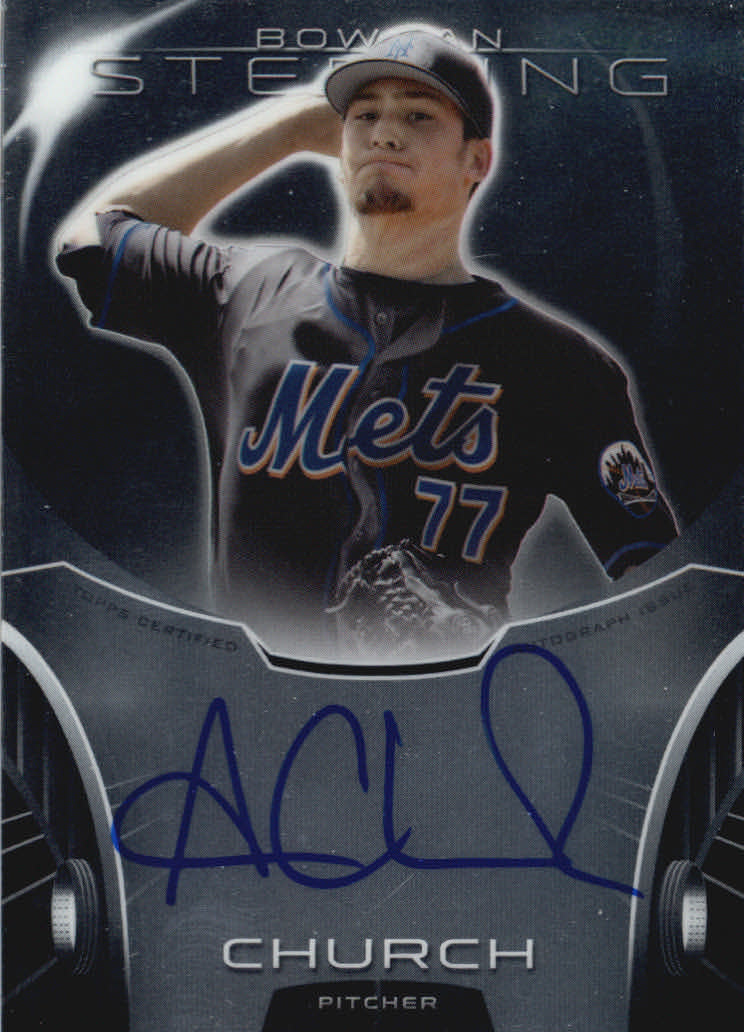 2013 Bowman Sterling Prospect Autographs #AC Andrew Church