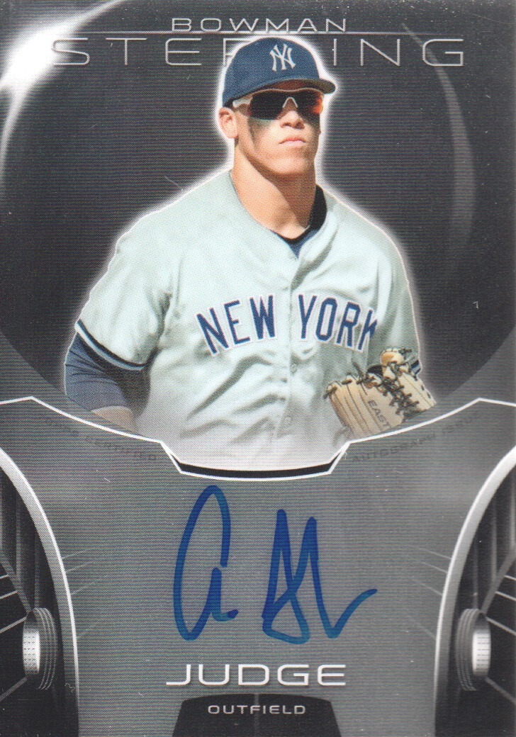 2013 Bowman Sterling Prospect Autographs #AJ Aaron Judge