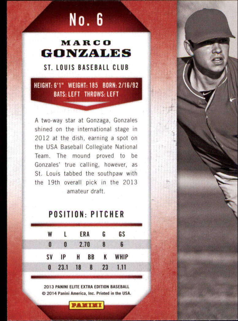 2013 Elite Extra Edition #6A Marco Gonzales