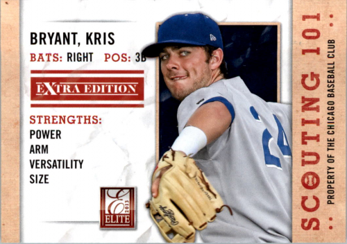 2013 Elite Extra Edition Scouting 101 #19 Kris Bryant