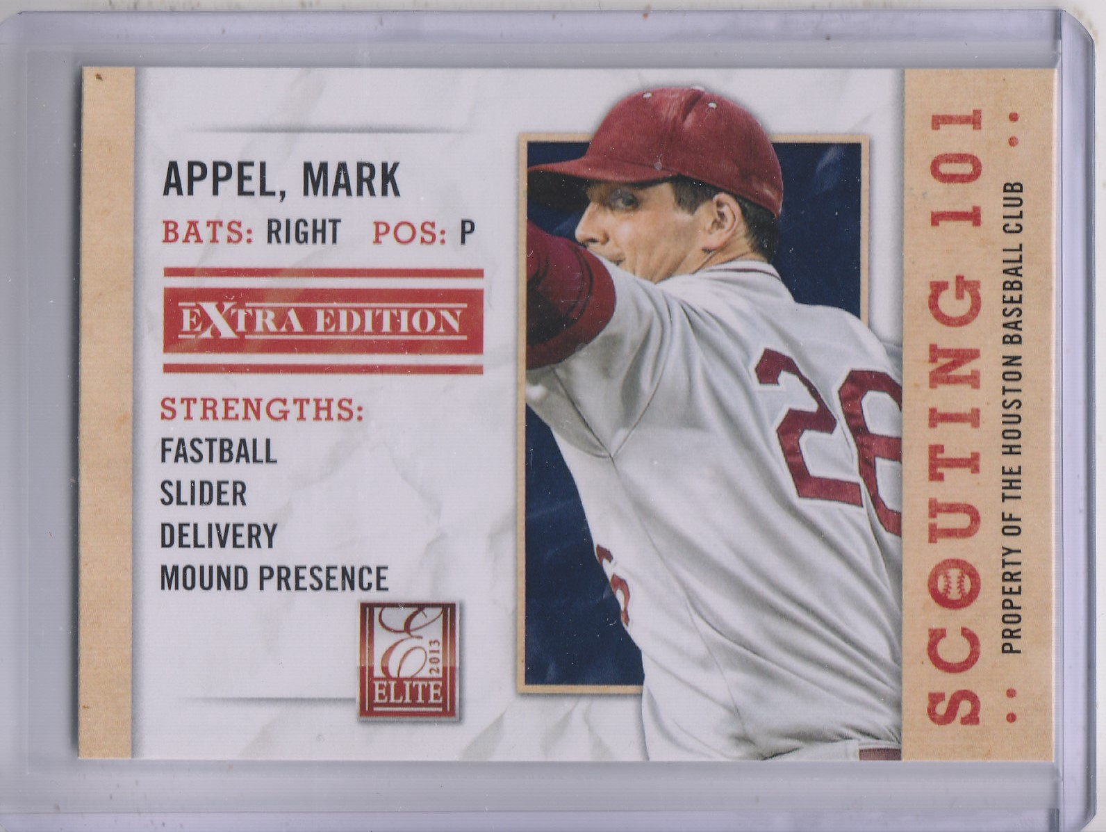 2013 Elite Extra Edition Scouting 101 #20 Mark Appel