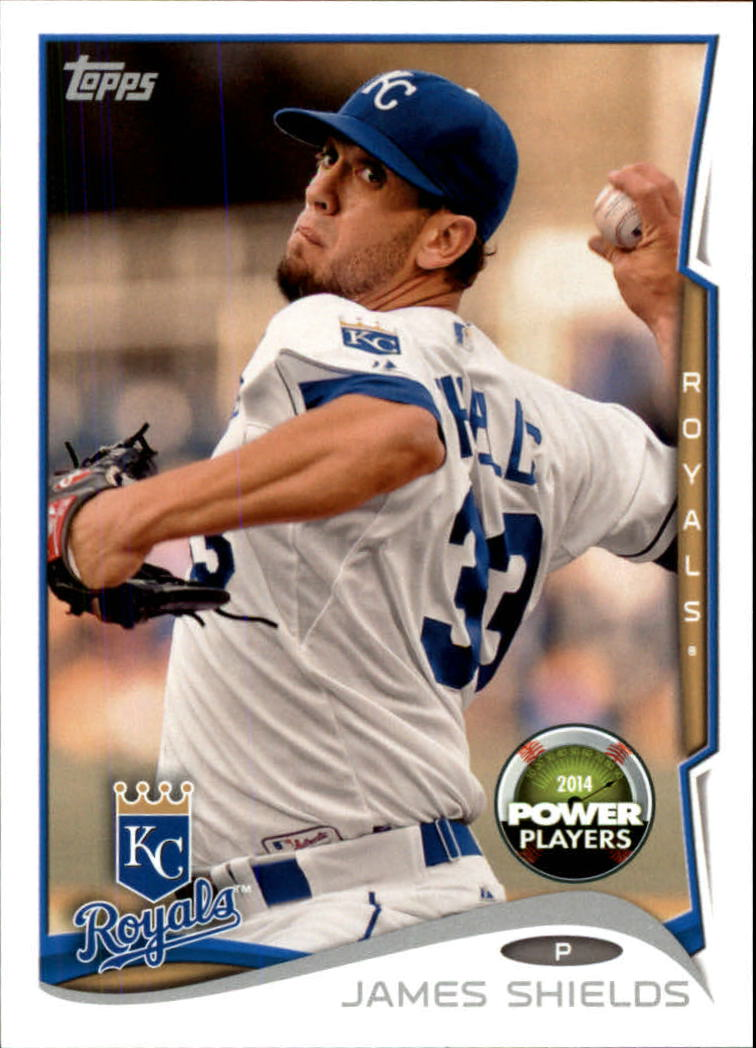 2014 Topps Power Players #PP95 James Shields