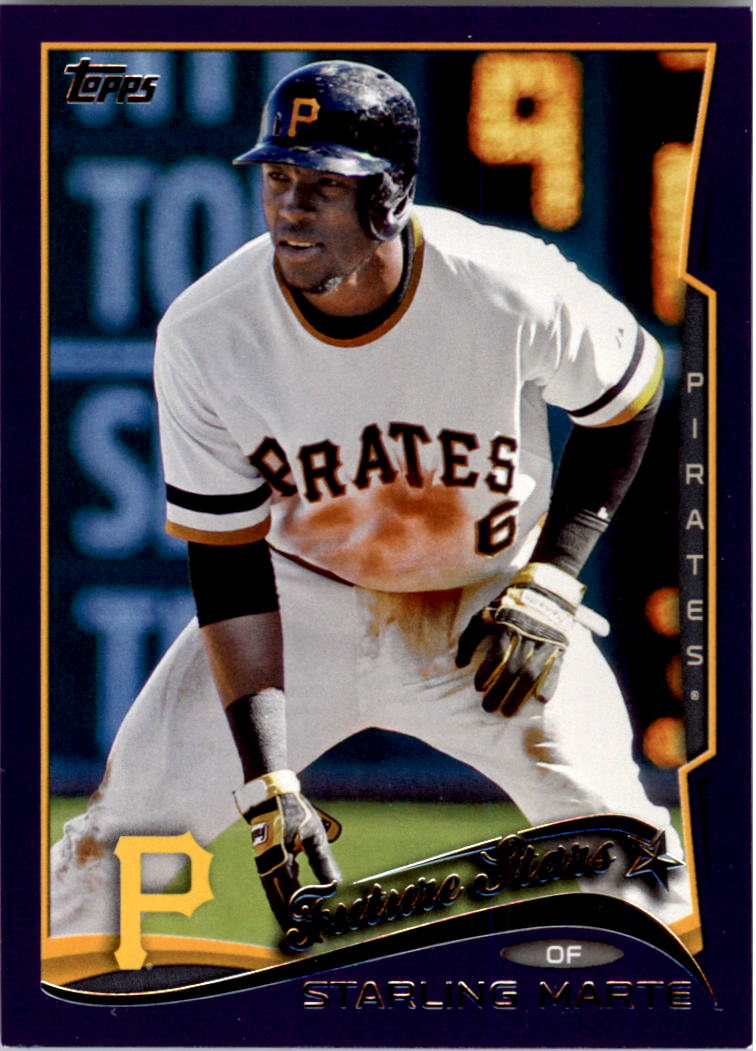 2014 Topps Toys R Us Purple Border #91 Starling Marte FS