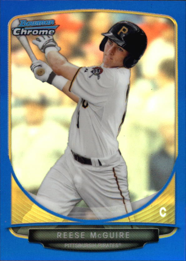 2013 Bowman Chrome Mini Blue Refractors #297 Reese McGuire
