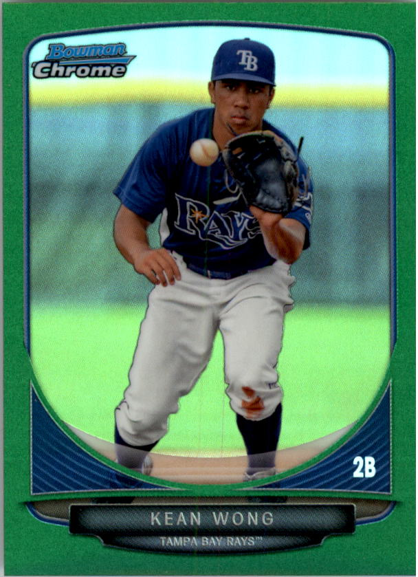 2013 Bowman Chrome Mini Green Refractors #17 Kean Wong