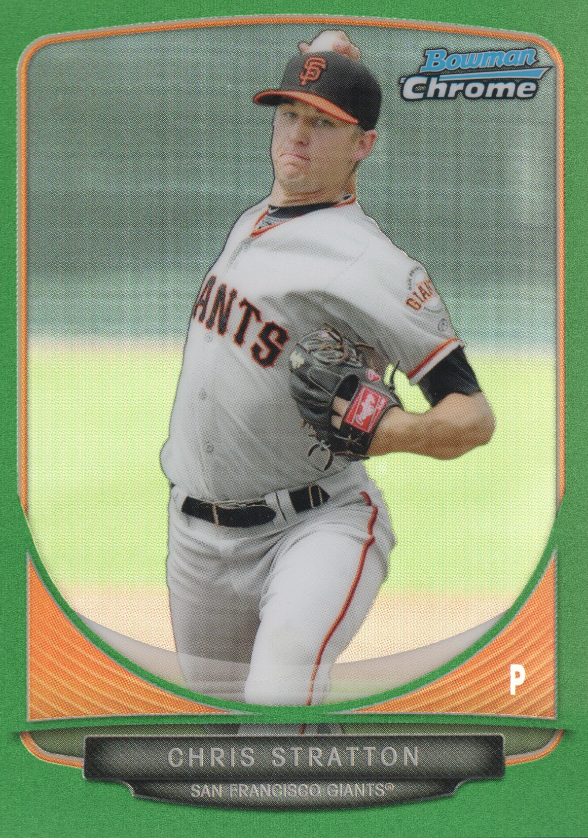 2013 Bowman Chrome Mini Green Refractors #23 Chris Stratton