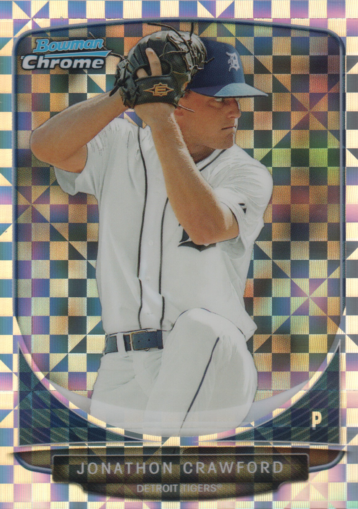 2013 Bowman Chrome Mini X-fractors #8 Jonathon Crawford