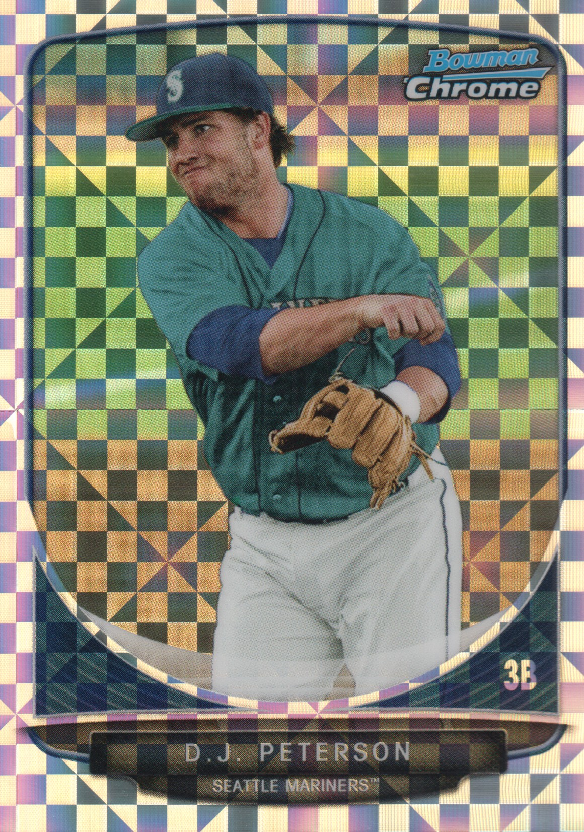 2013 Bowman Chrome Mini X-fractors #130 D.J. Peterson