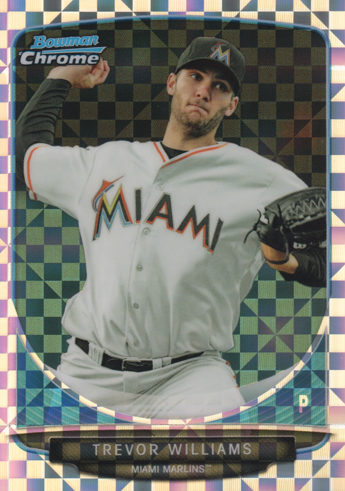 2013 Bowman Chrome Mini X-fractors #211 Trevor Williams
