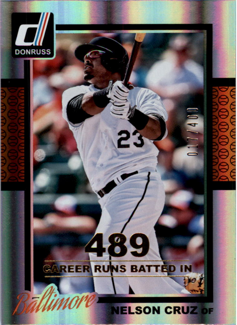 2014 Donruss Stat Line Career #269 Nelson Cruz/400