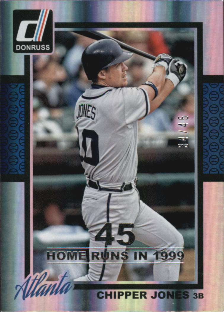 2014 Donruss Stat Line Season #194 Chipper Jones/45