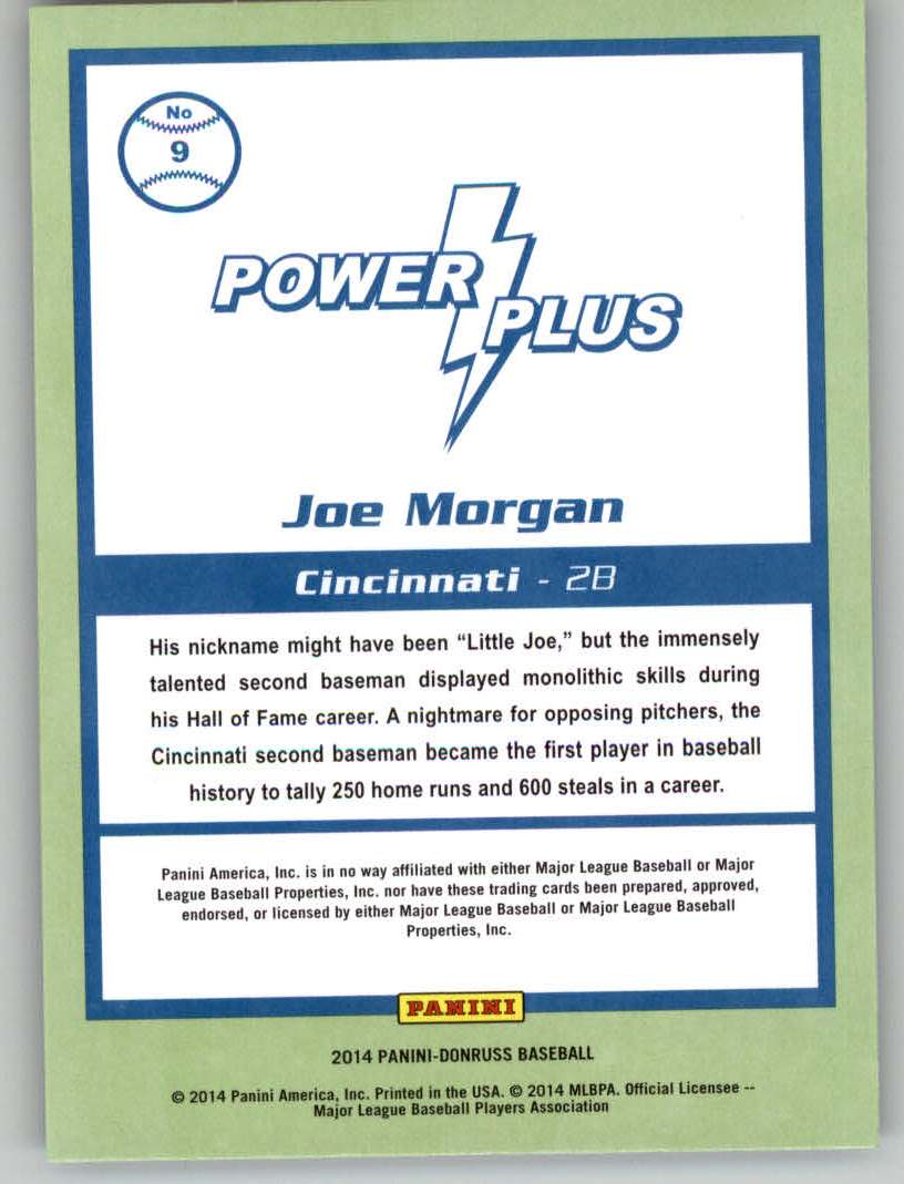 2014 Donruss Power Plus #9 Joe Morgan