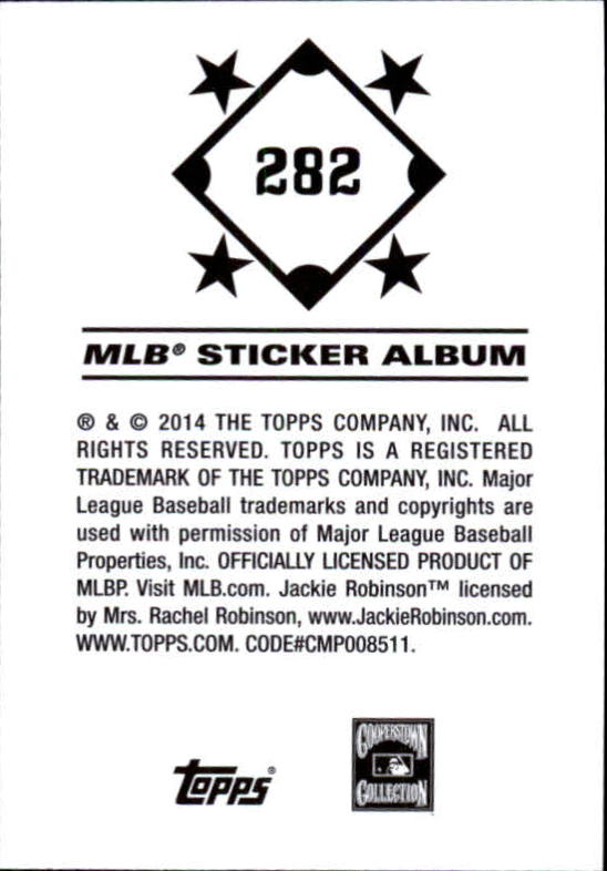 2014 Topps Stickers #282 Jackie Robinson