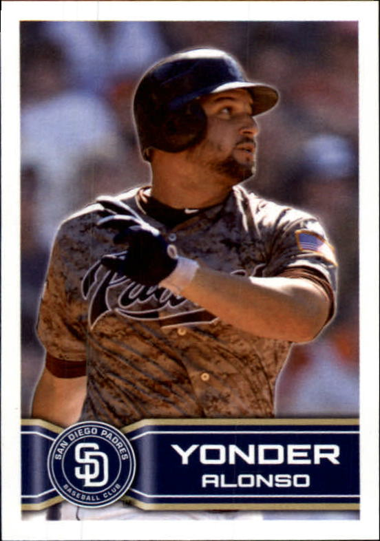 2014 Topps Stickers #283 Yonder Alonso