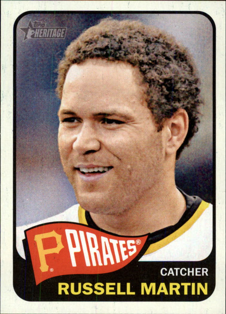 2014 Topps Heritage #343 Russell Martin