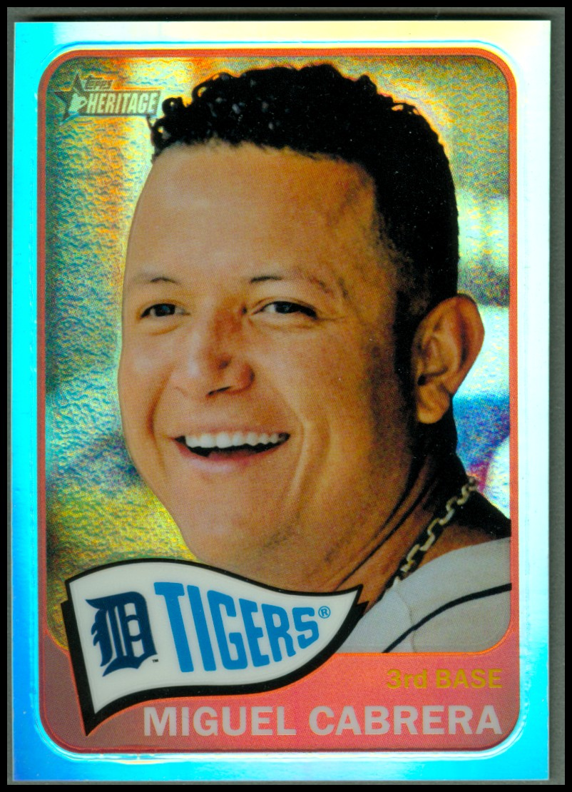 2014 Topps Heritage Chrome Refractors #500 Miguel Cabrera