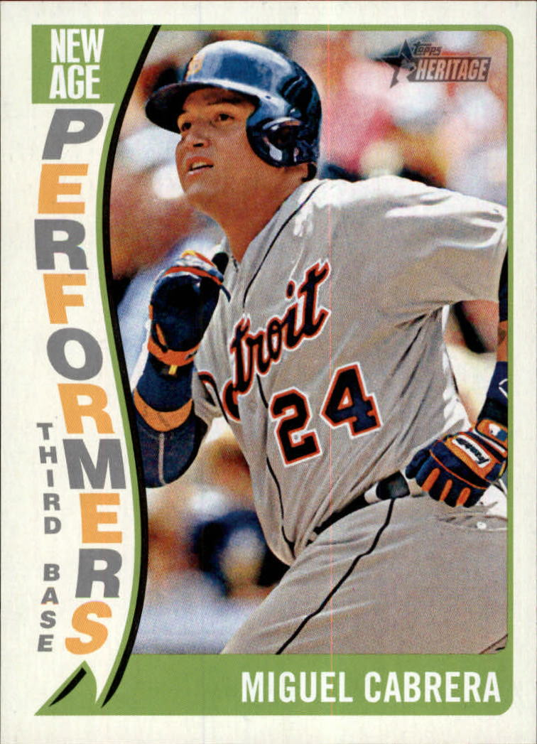 2014 Topps Heritage New Age Performers #NAPMC Miguel Cabrera