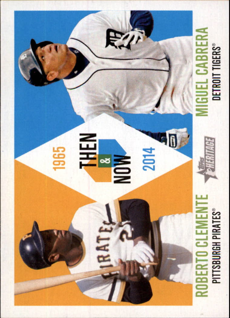 2014 Topps Heritage Then and Now #TANCC Roberto Clemente/Miguel Cabrera