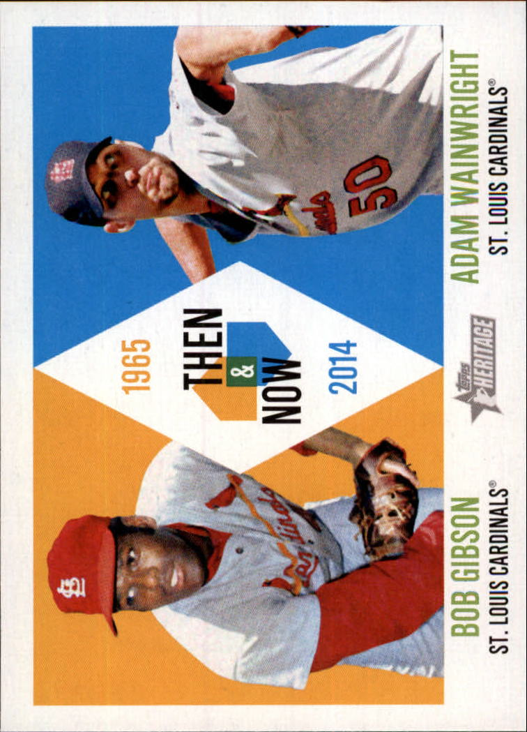 2014 Topps Heritage Then and Now #TANGW Bob Gibson/Adam Wainwright