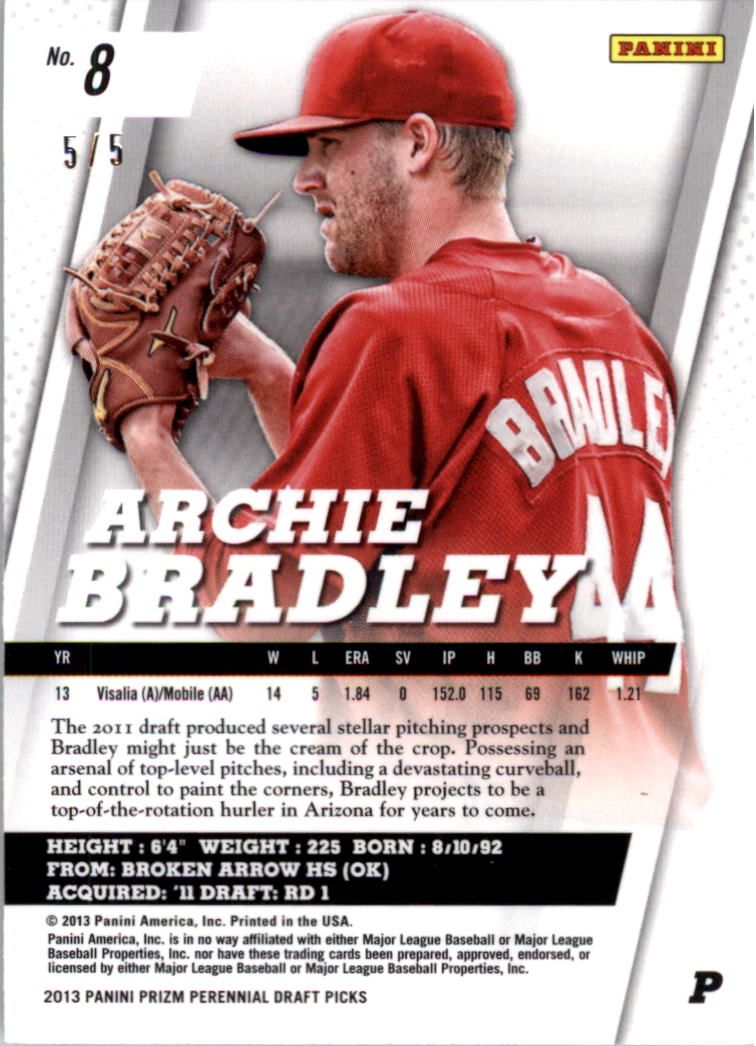 2013 Panini Prizm Perennial Draft Picks Industry Summit #8 Archie Bradley