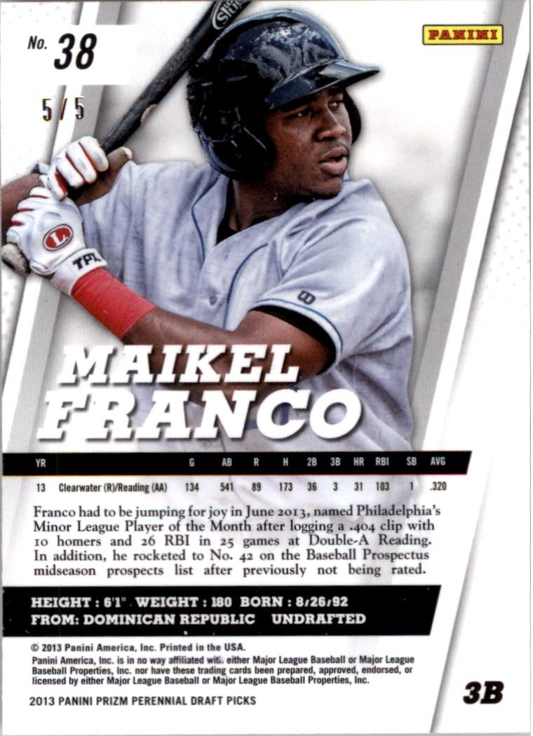 2013 Panini Prizm Perennial Draft Picks Industry Summit #38 Maikel Franco