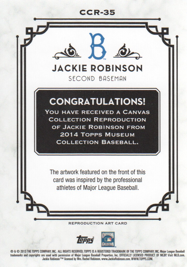 2014 Topps Museum Collection Canvas Collection #CCR35 Jackie Robinson