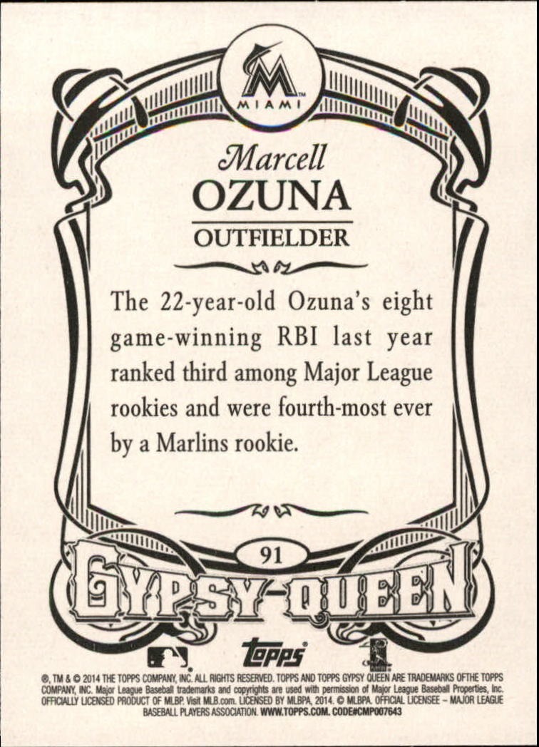 2014 Topps Gypsy Queen #91 Marcell Ozuna