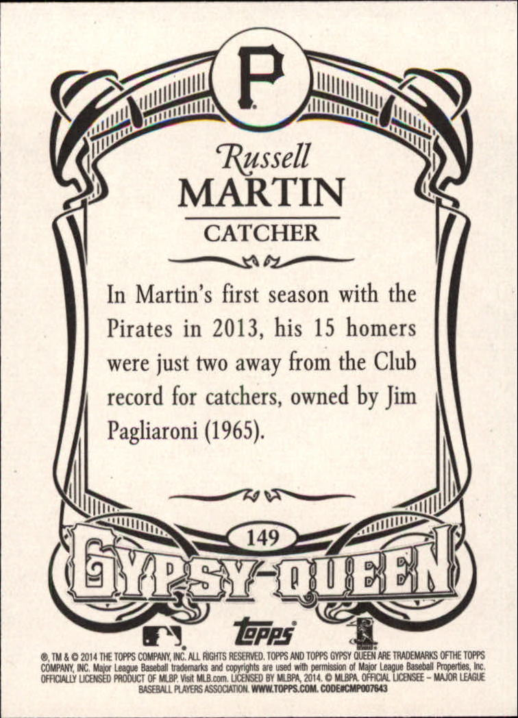 2014 Topps Gypsy Queen #149 Russell Martin