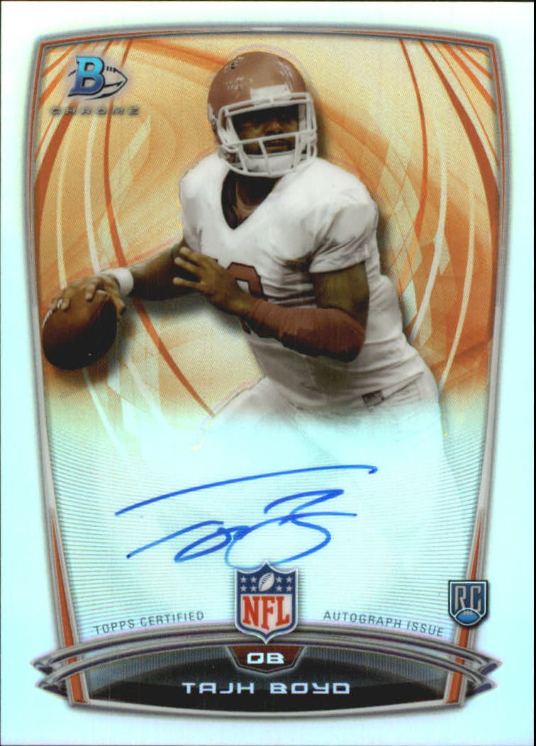2014 Bowman Chrome Rookie Autographs College Refractors #25 Tajh Boyd