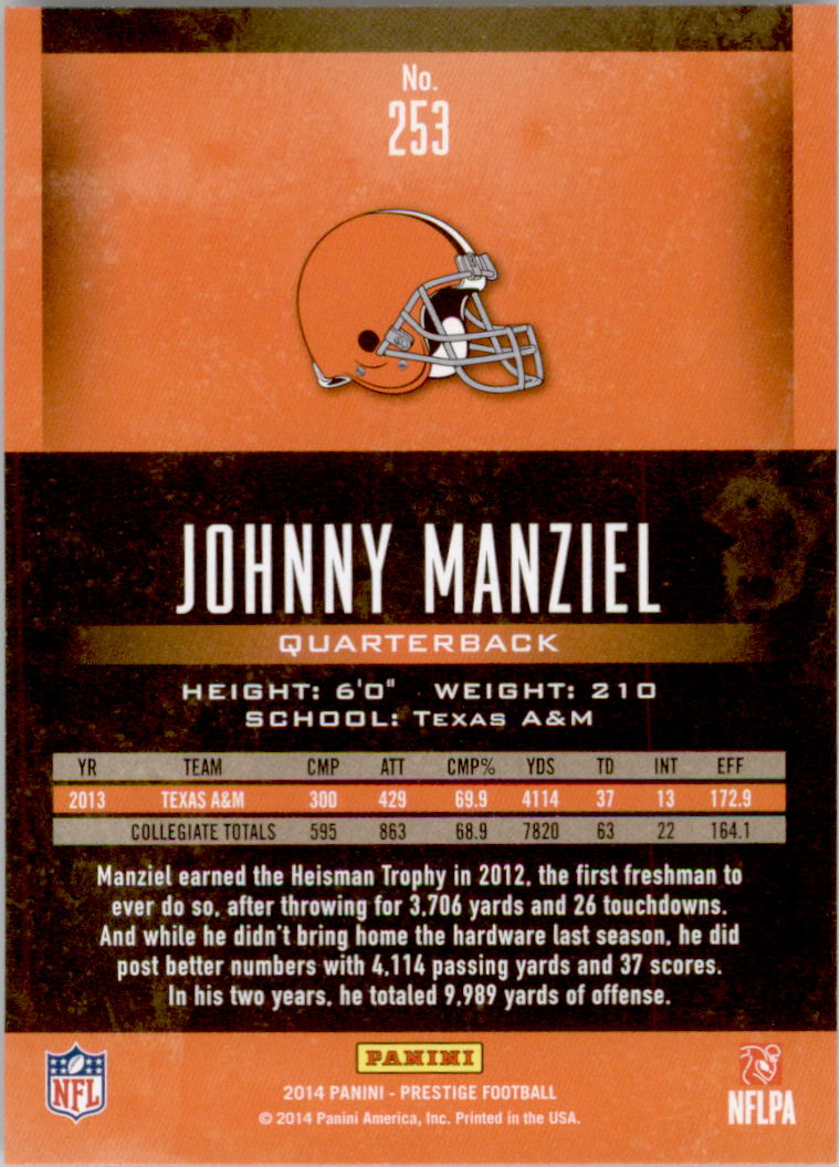2014 Prestige #253A Johnny Manziel RC