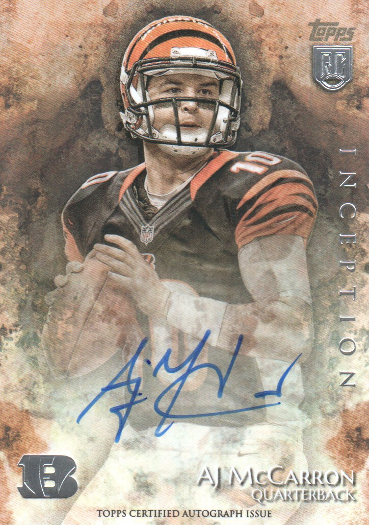 2014 Topps Inception #49R A.J. McCarron AU RC