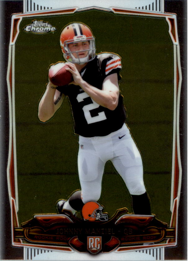 2014 Topps Chrome #169A Johnny Manziel RC