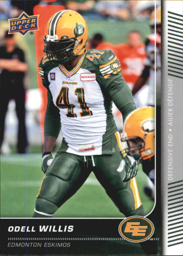 2015 Upper Deck CFL #106 Odell Willis