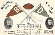 1906 College Captains and Teams Postcards #1 Brown vs. Dartmouth/(November 24, 1906)/V.A. Schwartz (Brown)/J.B. Glaze (Dartmouth)
