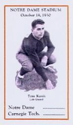 1930 Notre Dame Postcards #10 Tom Kassis/(October 18)