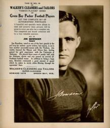 1932 Packers Walker's Cleaners #19 Jim Bowdoin