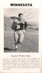 1933 College Captains #3 Walter Haas