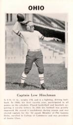 1933 College Captains #4 Lew Hinchman