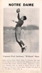 1933 College Captains #5 Paul Host