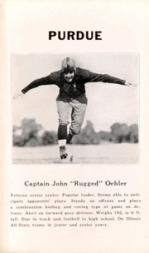 1933 College Captains #7 John Oehler