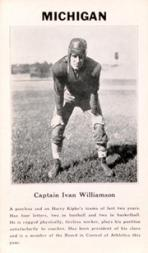 1933 College Captains #10 Ivan Williamson