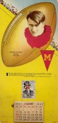 1943 Gridiron Greats Calendars #M3910 Bronko Nagurski