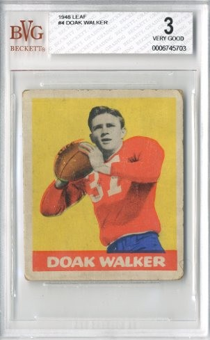 1948 Leaf #4 Doak Walker RC