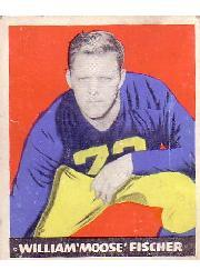 1948 Leaf #7A Bill Fischer RB RC/(Red background at knees)