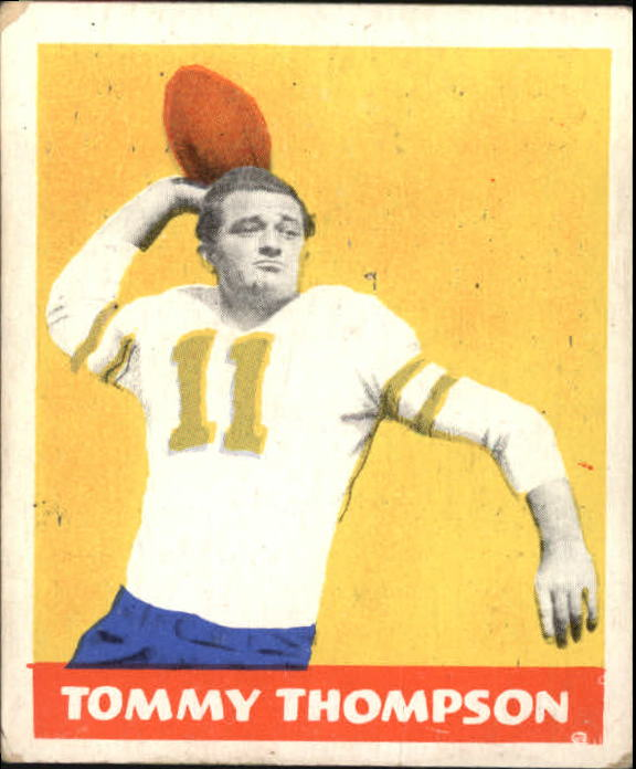 1948 Leaf #9A Tommy Thompson YJN RC/(Yellow jersey numbers)